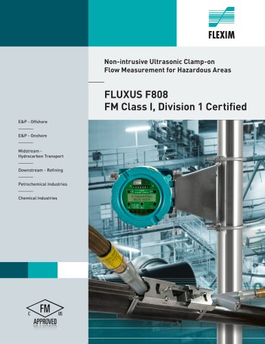 FLUXUS F808 - Non-intrusive Ultrasonic Clamp-on  Flow Measurement for Hazardous Areas