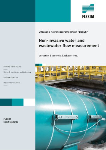 Non-invasive water and wastewater flow measurement