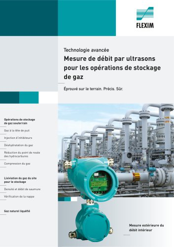 Ultrasonic Flow Measurement in Gas Storage Operations