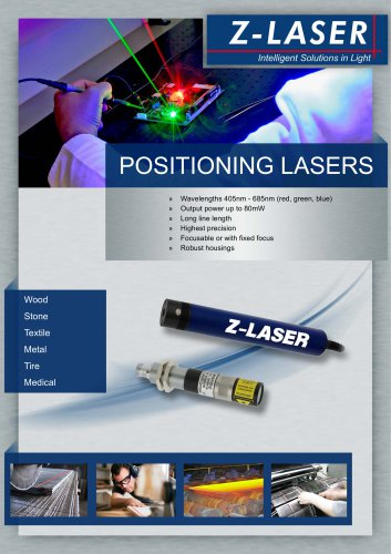 Line lasers / positioning lasers
