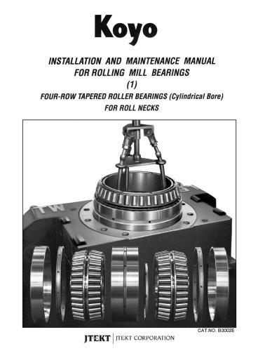 B3002E Installation & Maintenance Rolling Mill Bearings Tapered Roller Bearings