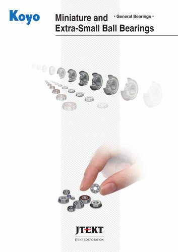 Miniature and Extra-Small Ball Bearings