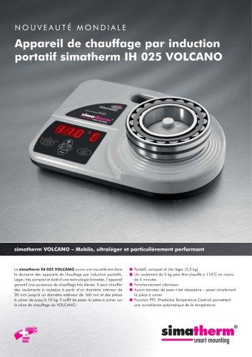 Appareil de chauffage par induction portatif - simatherm IH 025 VOLCANO