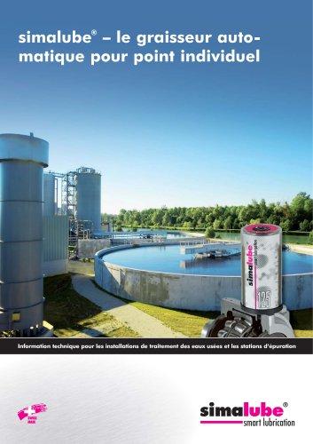Lubrification automatique pour les installations de traitement des eaux usées et les stations d?épuration