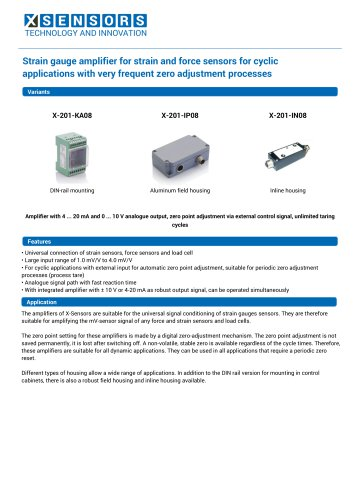 Strain gauge amplifier for strain and force sensors for cyclic applications with very frequent zero adjustment processes