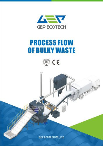 15-60m³/h msw bulky waste shredding and disposal system