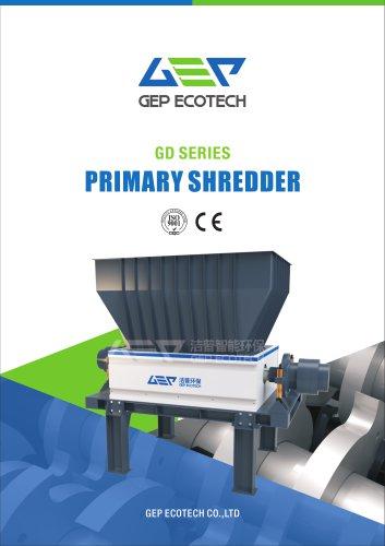 GP series hydraulic primary shredder