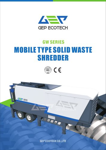 GW series mobile solid waste shredding station