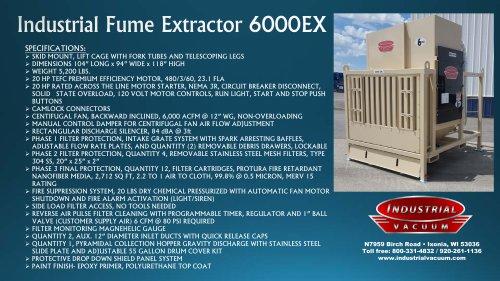 Industrial Fume Extractor 6000EX