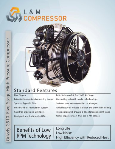 Grizzly G510 Five-Stage High Pressure Compressor