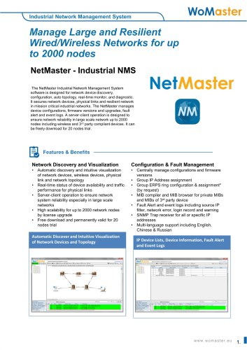 NetMaster Industrial Network Management System | WoMaster