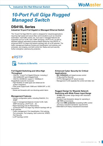 Rugged Switch with High Resilience DS410F/DS410 Series