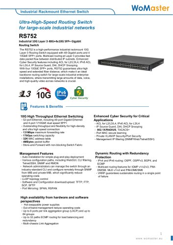WoMaster-RS752-Industrial Rackmount Ethernet
