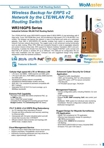 WoMaster-WR316gps-industrial cellular PoE Routing