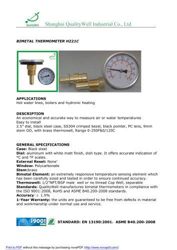 BIMETAL THERMOMETER H221C