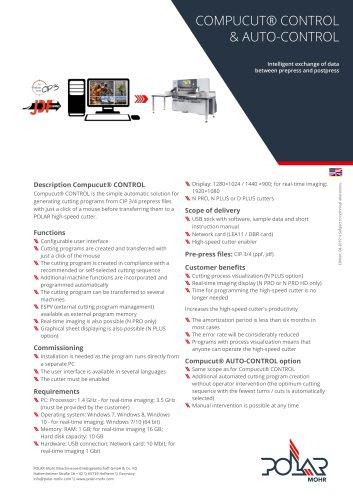 Compucut® CONTROL & AUTO-CONTROL