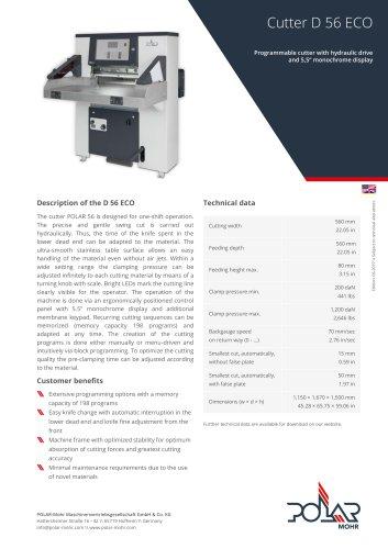 Cutter D 56 ECO