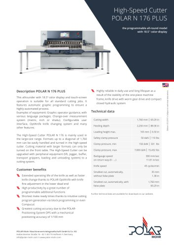 High-Speed Cutter N 176