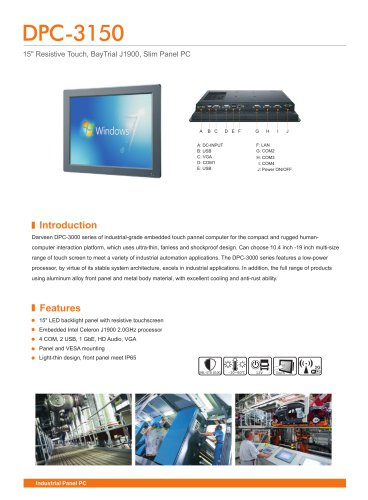 Darveen 15inch Resistive Touch Panel PC with Celeron J1900/DPC-3150
