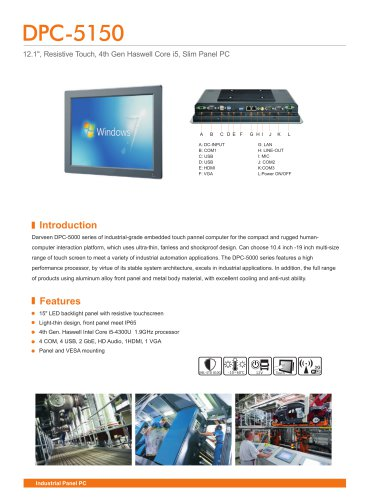Darveen 15inch Resistive Touch Panel PC with I5 4200U/DPC-5150