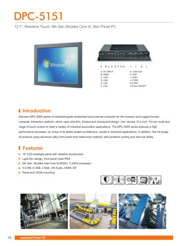Darveen 15inch Resistive Touch Panel PC with I5 4200U/DPC-5151