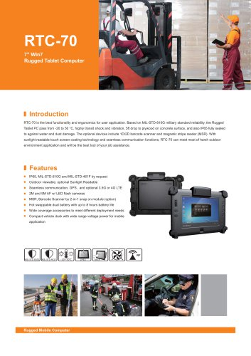 RTC-70 Rugged Tablet