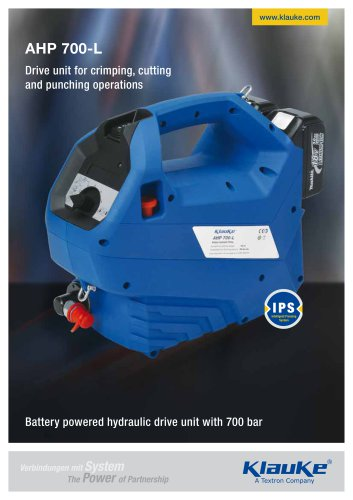 Battery powered hydraulic drive unit AHP 700-L