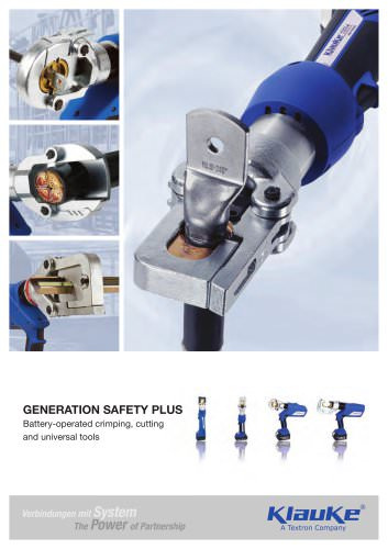 Battery powered hydraulic tools: Generation Safety Plus