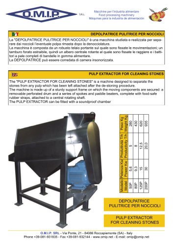 PULP EXTRACTOR FOR CLEANING STONES