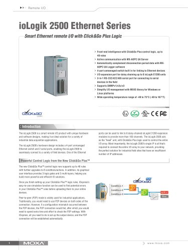 ioLogik 2500 Ethernet Series