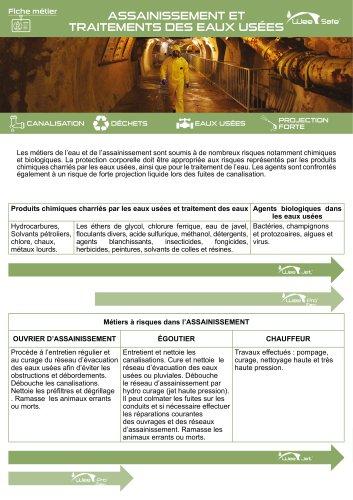 Fiche Métier - Assainissement et traitements des eaux usées