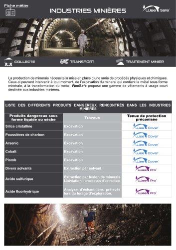 Fiche métier - Industries minières