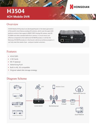 H3504 4CH Mobile DVR Brochure
