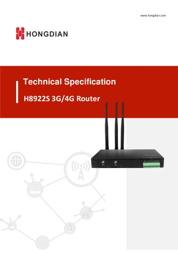 H8922S 4G Router Technical Specification V1.0.0