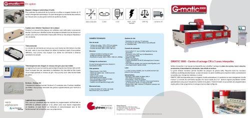 GMATIC 3000 – Machine CN 3 axes pour plans de travail en pierre et funéraire