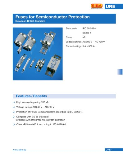 Fuses acc. to british standard (URE)