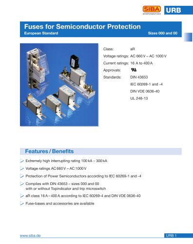 Fuses for Semiconductor Protection