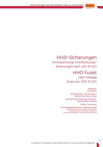 High-voltage fuses according to German standards