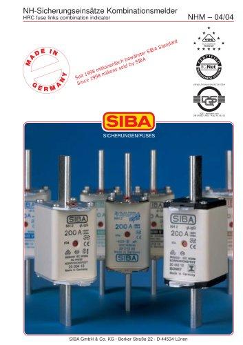 Low-voltage fuses wirh combination indicator