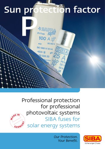 Sun protection factor P, Professional protection for professional photovoltaic systems