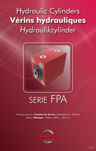 Hydraulic Cylinders SERIE FPA
