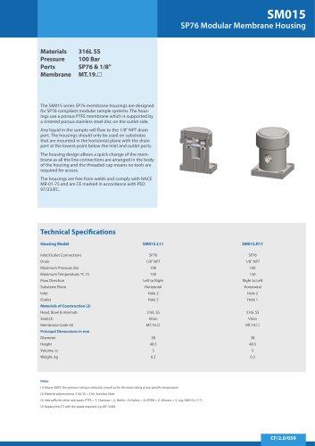SM015 Series ? PTFE Membrane
