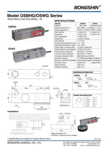 Model Series OSBHG/OSWG