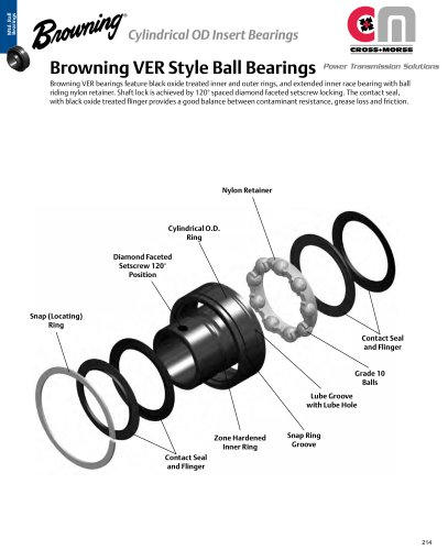 Browning® VER Style Ball Bearings
