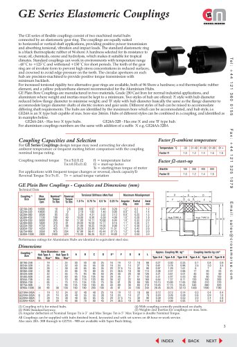 Elastomeric Couplings - Type GE