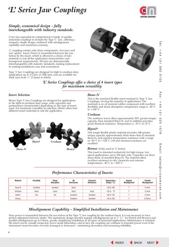 'L'Series - Jaw Couplings