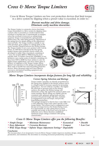 Torque Limiters & Couplings