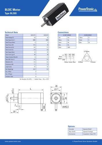 BLDC Motor Type BL28S