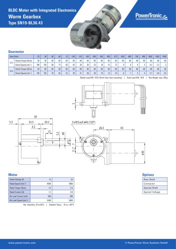 BLDC Motor with Integrated Electronics
