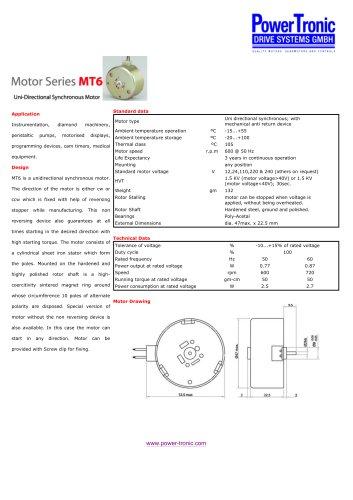 Motor Series MT6